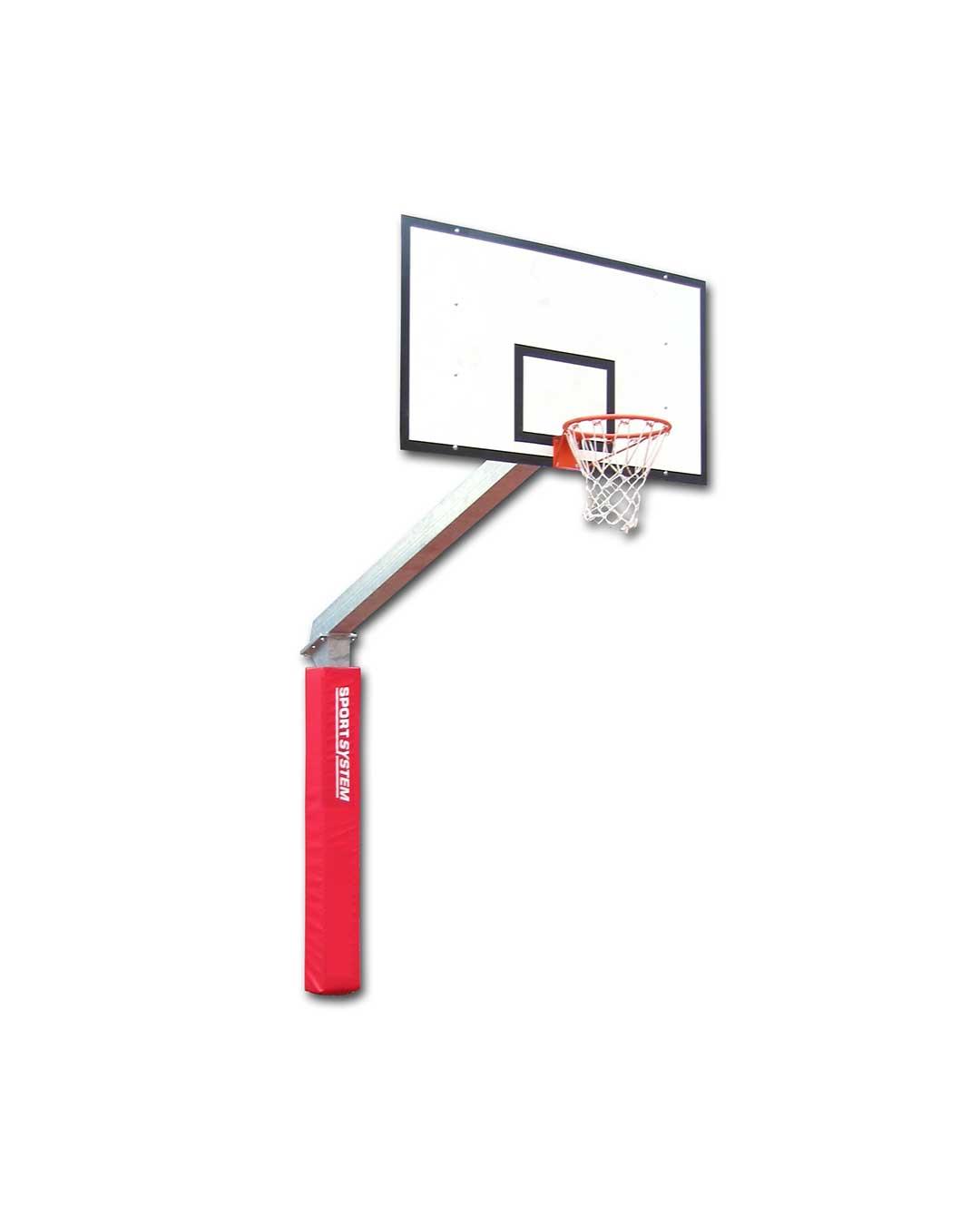 Tablero de básquetbol con poste fijo 225 cm de proyección