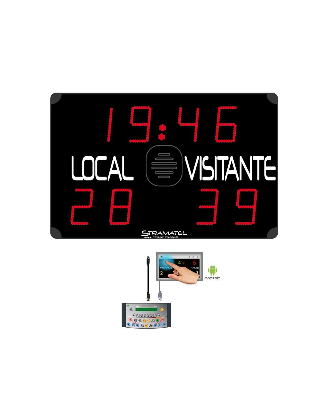 Marcador deportivo para Multideporte 452ME800 Radio