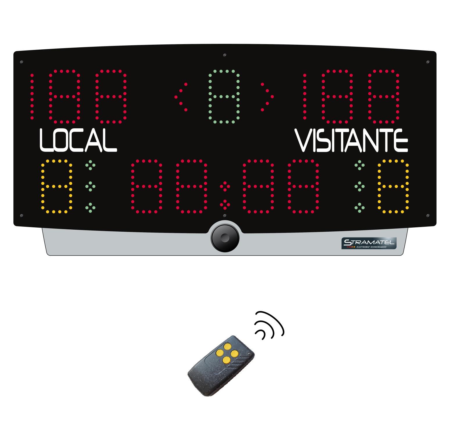 Marcador Electrónico portatil para multideporte y consola Mod. Multi-TOP3