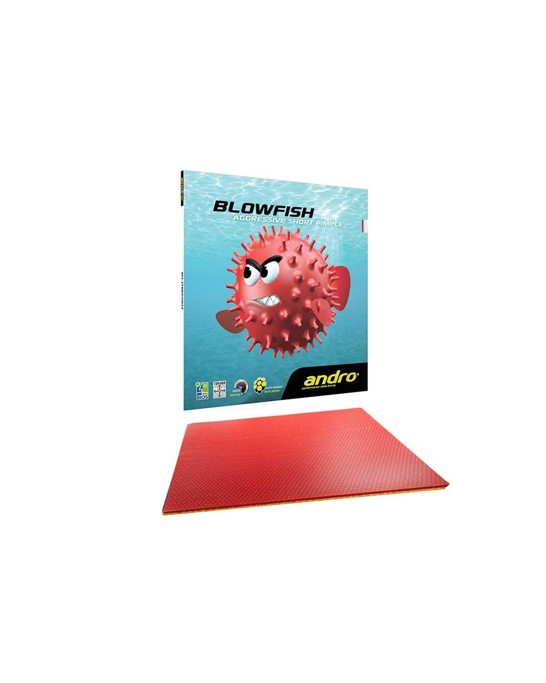 Goma Tenis de Mesa Andro Blowfish Red Max 2.2 mm