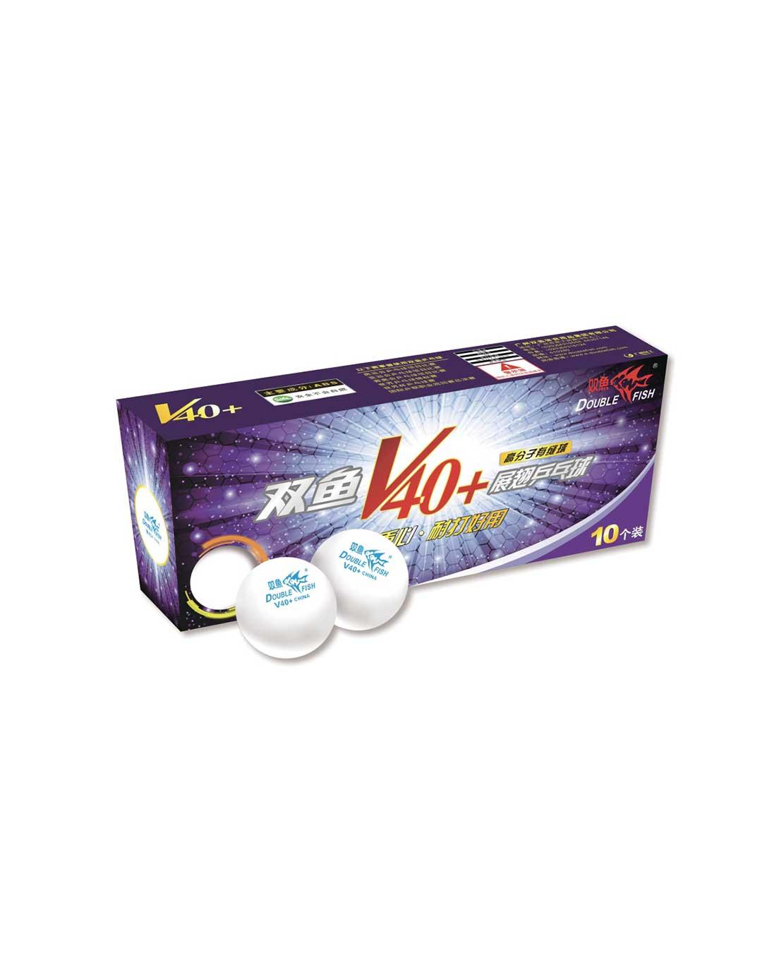 Pelotas de ping pong (Tenis de Mesa) marca Double Fish 40+ material ABS (incluye 10 pelotas blancas)