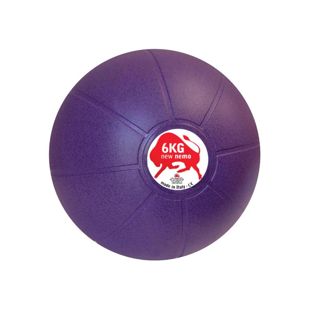 Balón Medicinal 6 KG Morado, 24 cm, Marca Trial