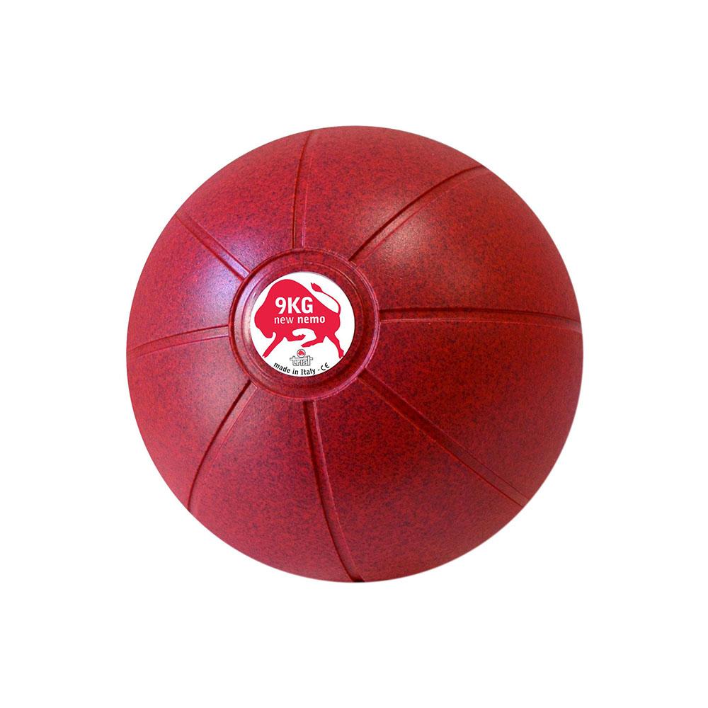 Balón Medicinal 9 KG Morado, 29 cm, Marca Trial