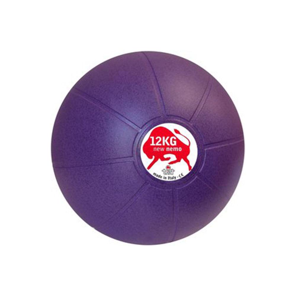 Balón Medicinal 12 KG Morado, 29 cm, Marca Trial