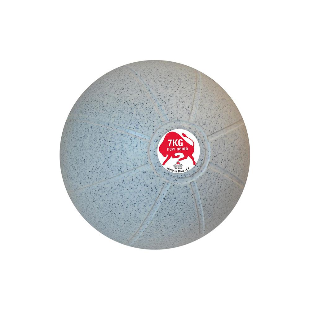 Balón Medicinal 7 KG Blanco/Negro, 29 cm, Marca Trial