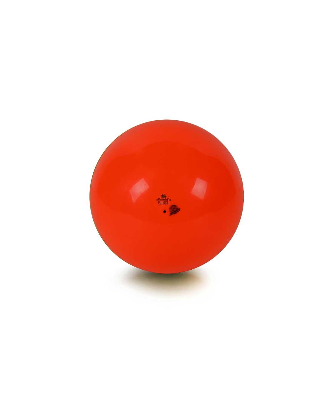 Balón de gimnasia rítmica – Marca Trial color rojo fluor 19 cm (certificado FIG)
