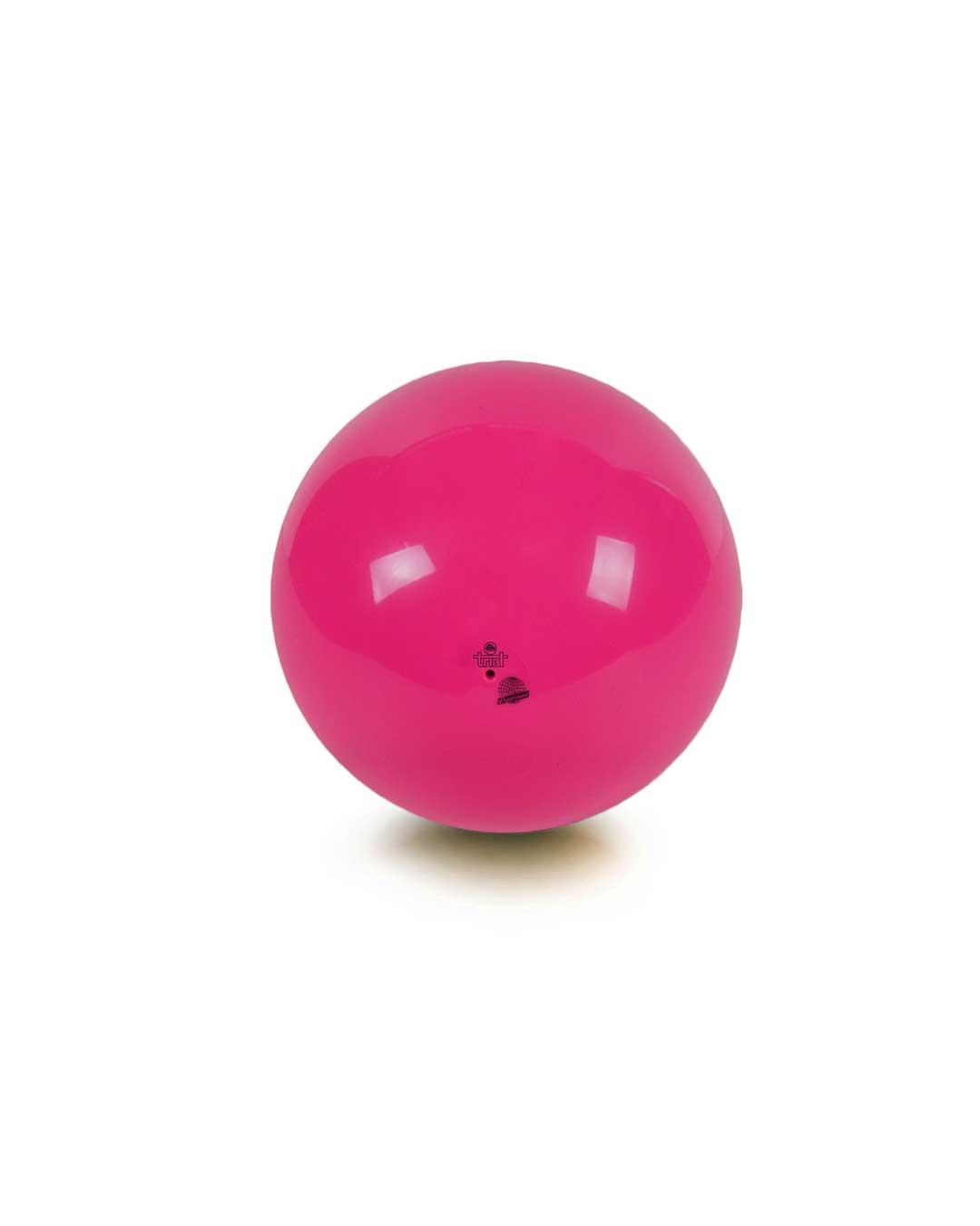 Balón de gimnasia rítmica – Marca Trial color rosado 19 cm (certificado FIG)