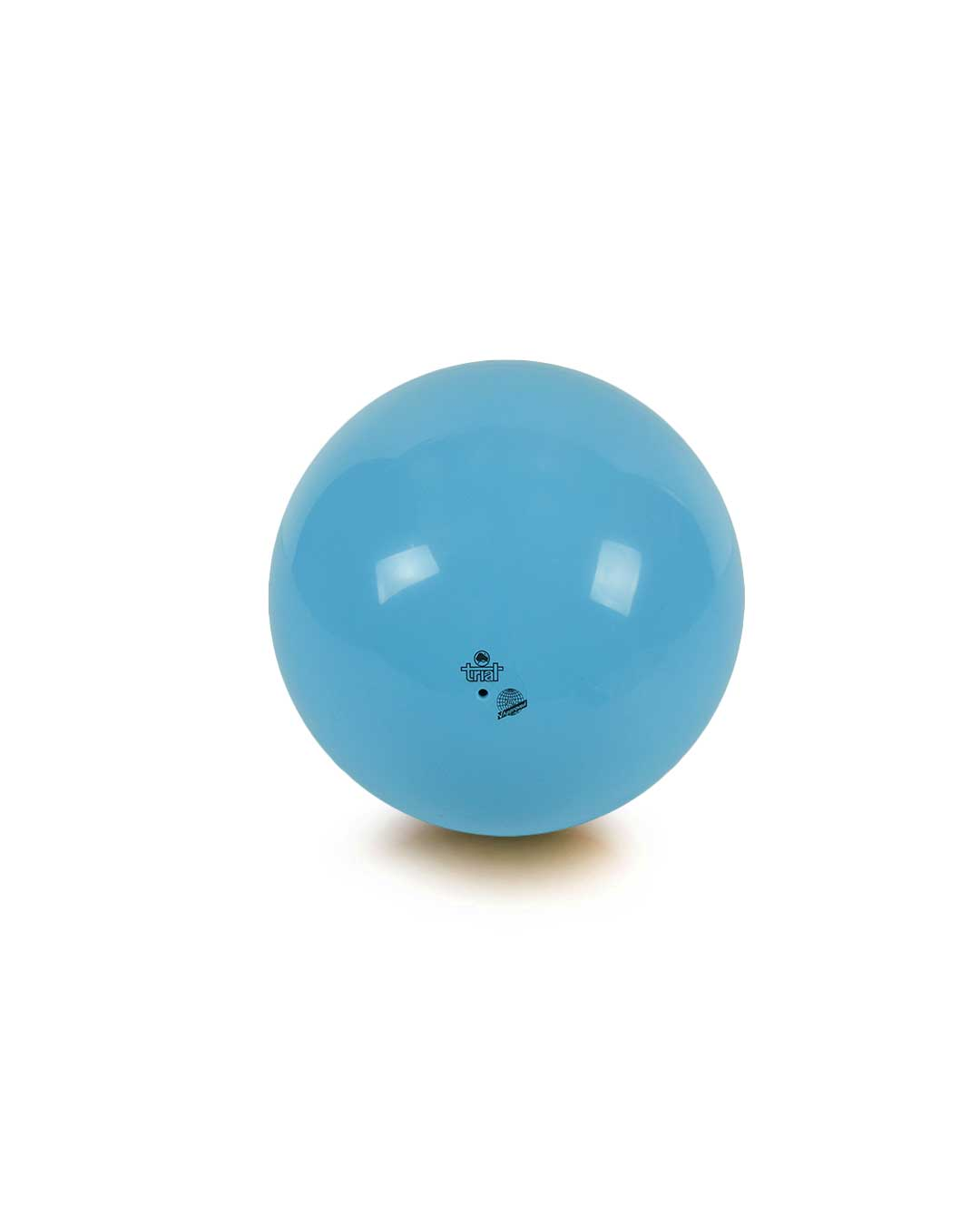 Balón de gimnasia rítmica – Marca Trial color celeste 19 cm (certificado FIG)