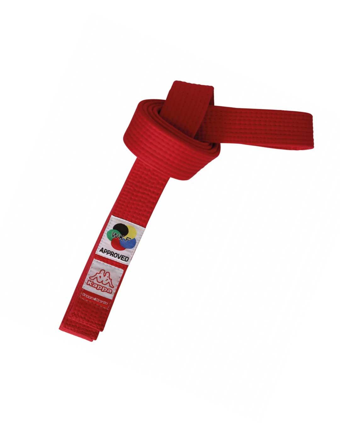 Cinturón karate rojo Nro 5 Sparta Certificado WKF
