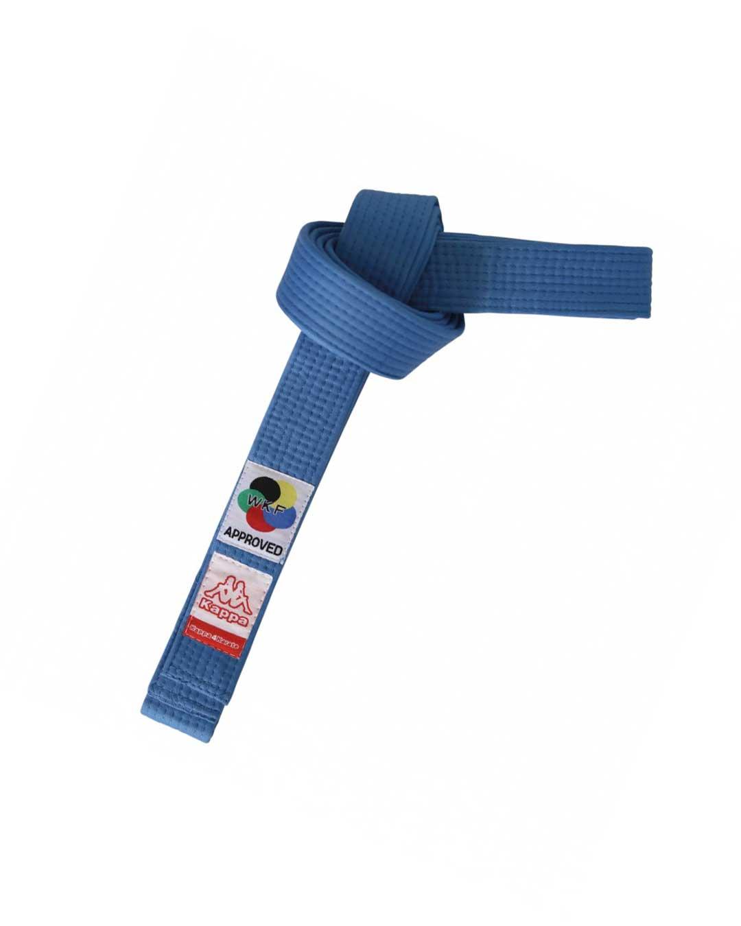 Cinturón karate azul Sparta Certificado WKF