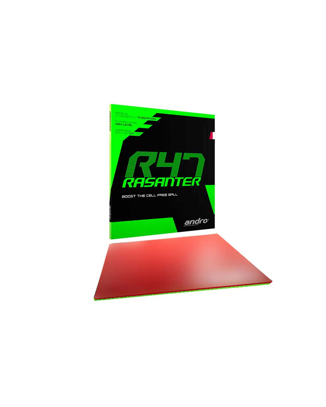 Goma Tenis de Mesa Andro Rasanter R47 Red Ultramax