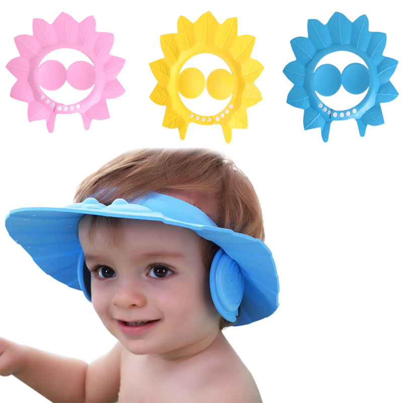 72886dcbf4aa8 Gorro Visera Baño Ducha Bebé Niños Además Protege Oído