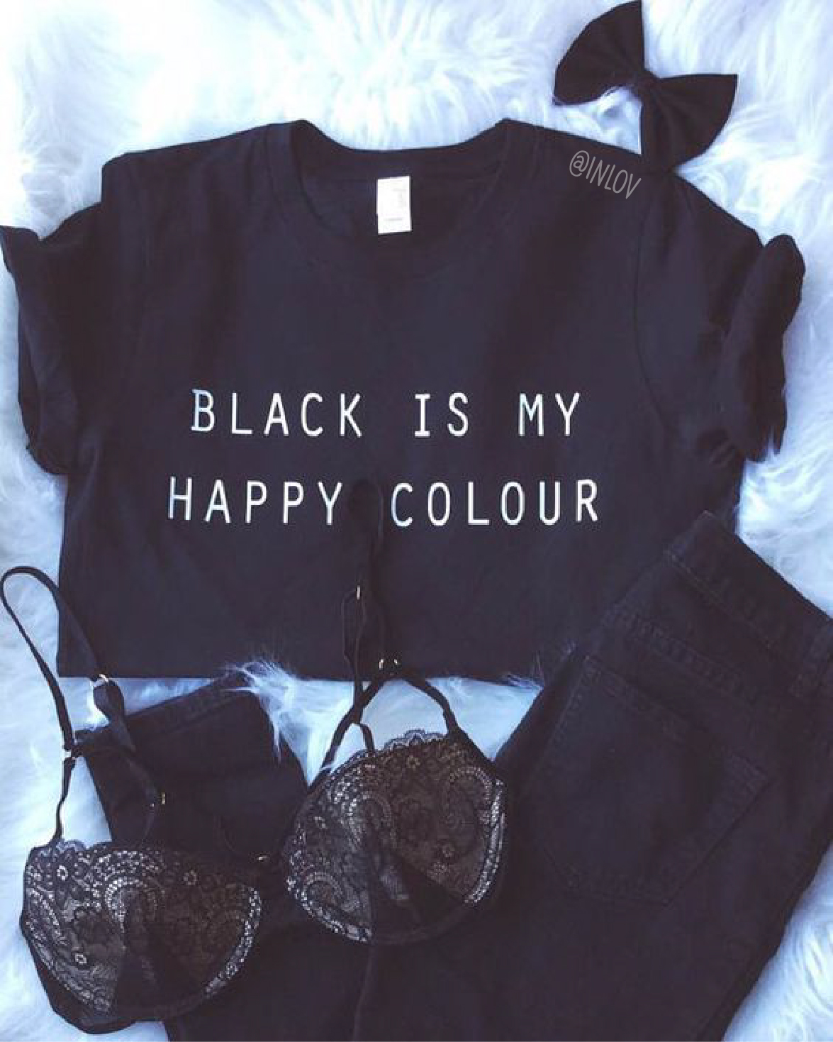 TEE UNISEX BLACK IS MY HAPPY COLOR