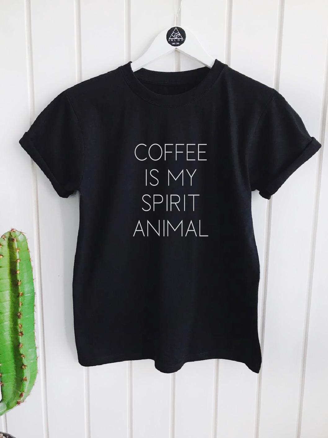 TEE UNISEX / COFFEE IS MY SPIRIT ANIMAL