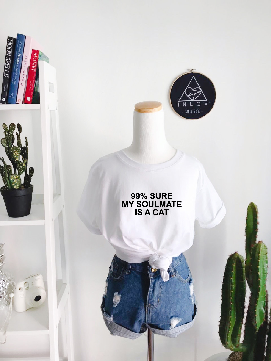 TEE UNISEX MY SOULMATE IS A CAT
