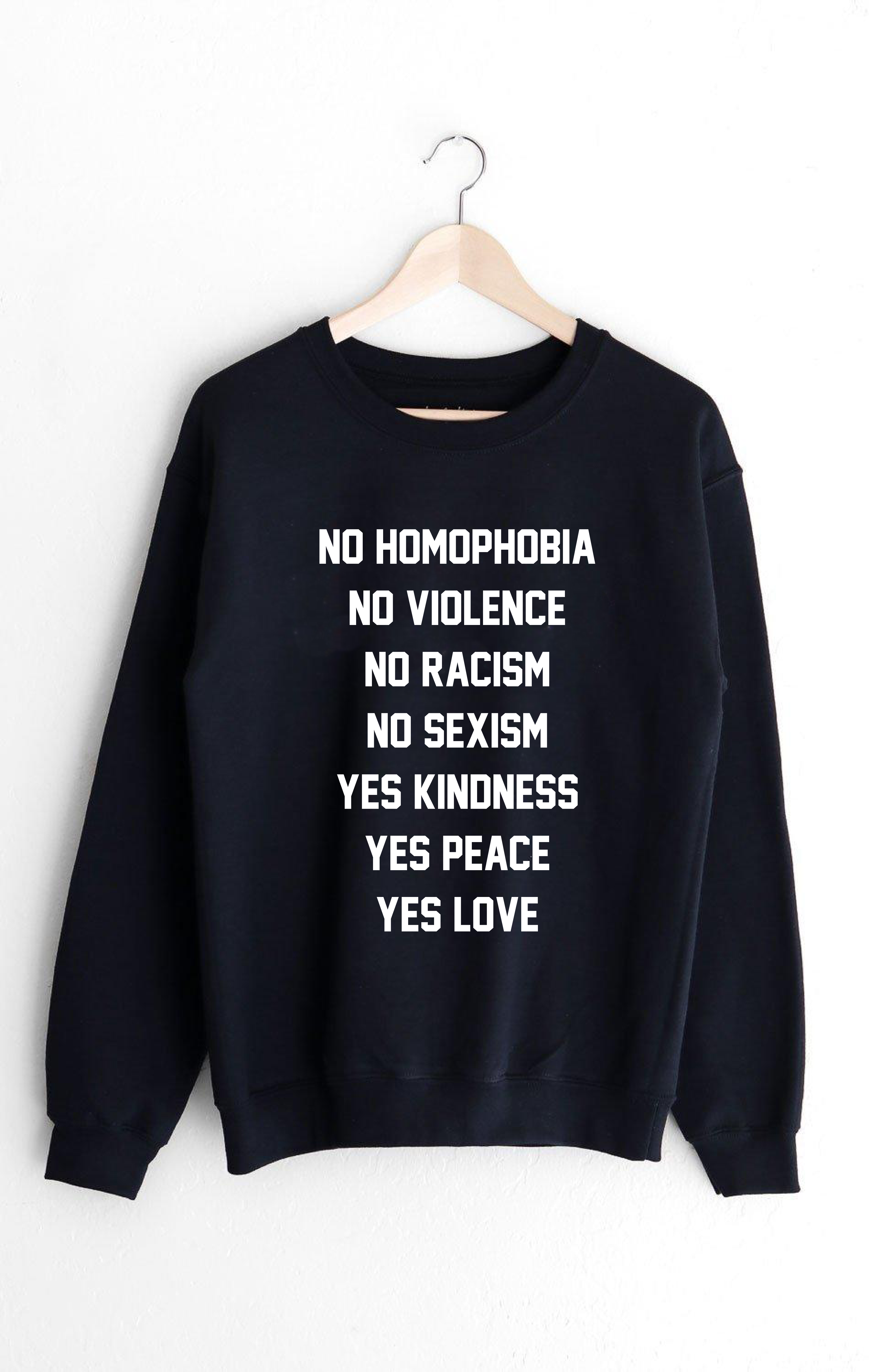 PULLOVER NO HOMOPHOBIA