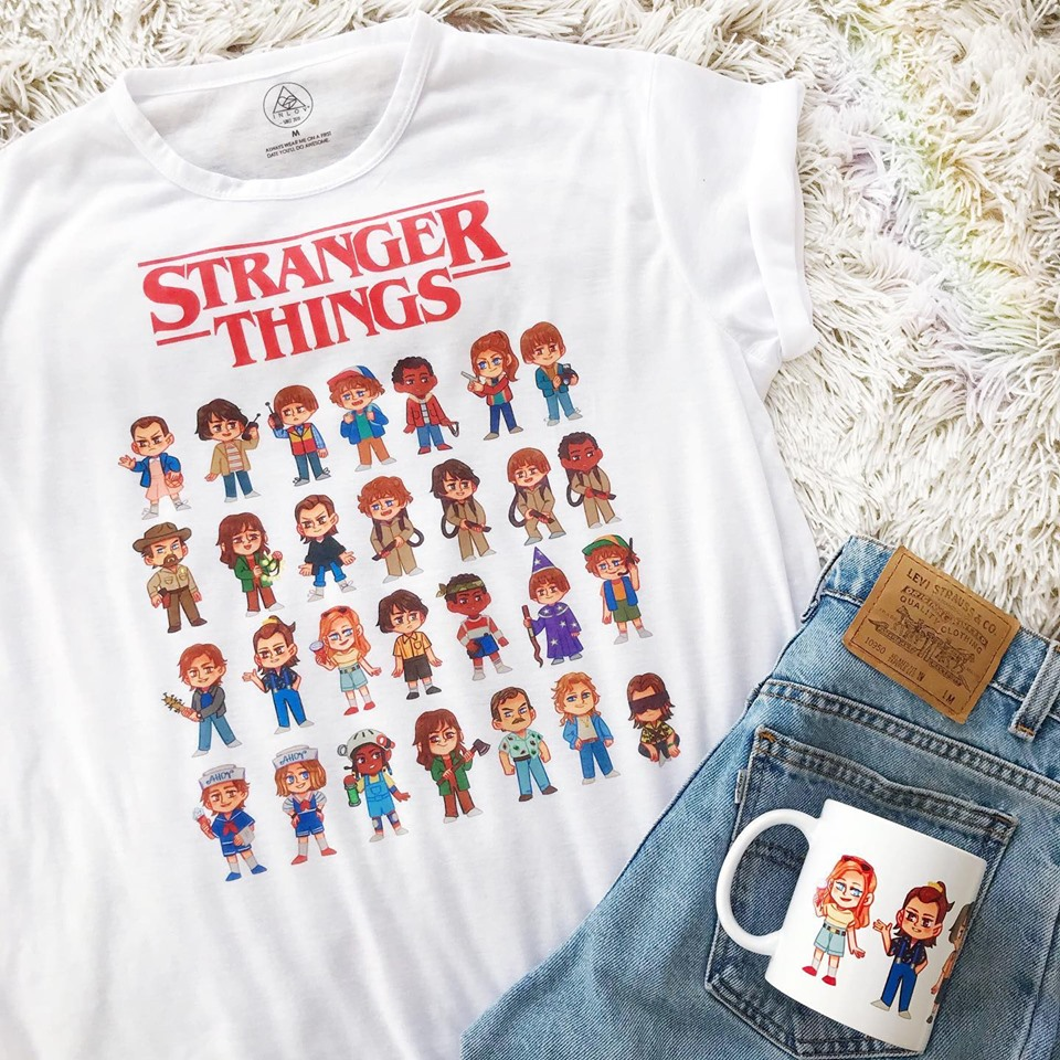 TEE CARTOON / STRANGER THINGS
