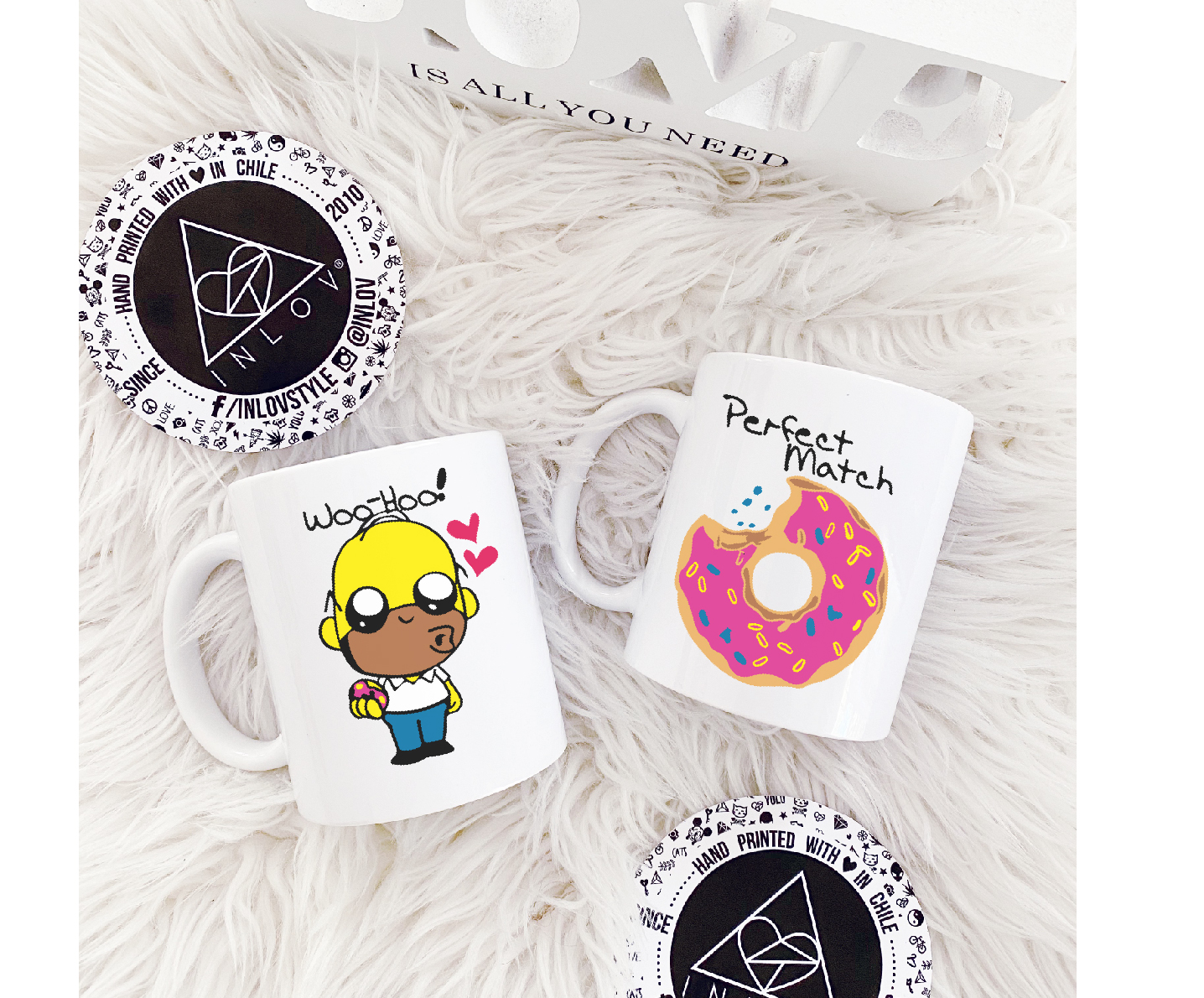 PACK 2 TAZAS COUPLE HOMERO