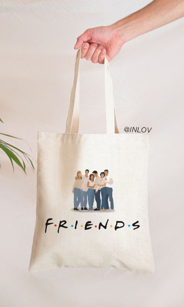 TOTE BAG FRIENDS PERSONAJES