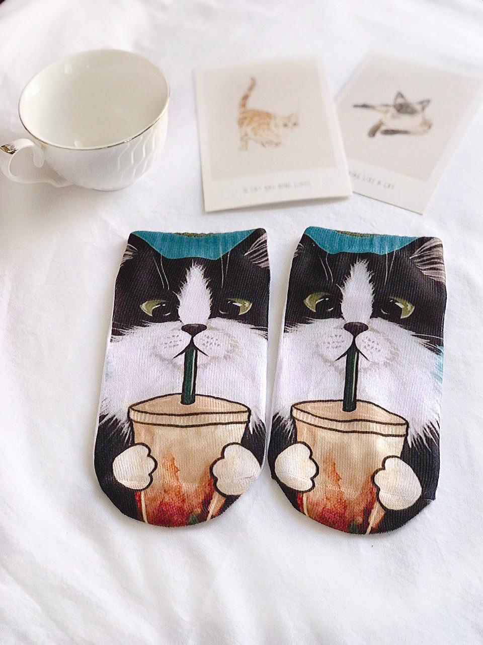 CALCETÍN COFFEE CAT