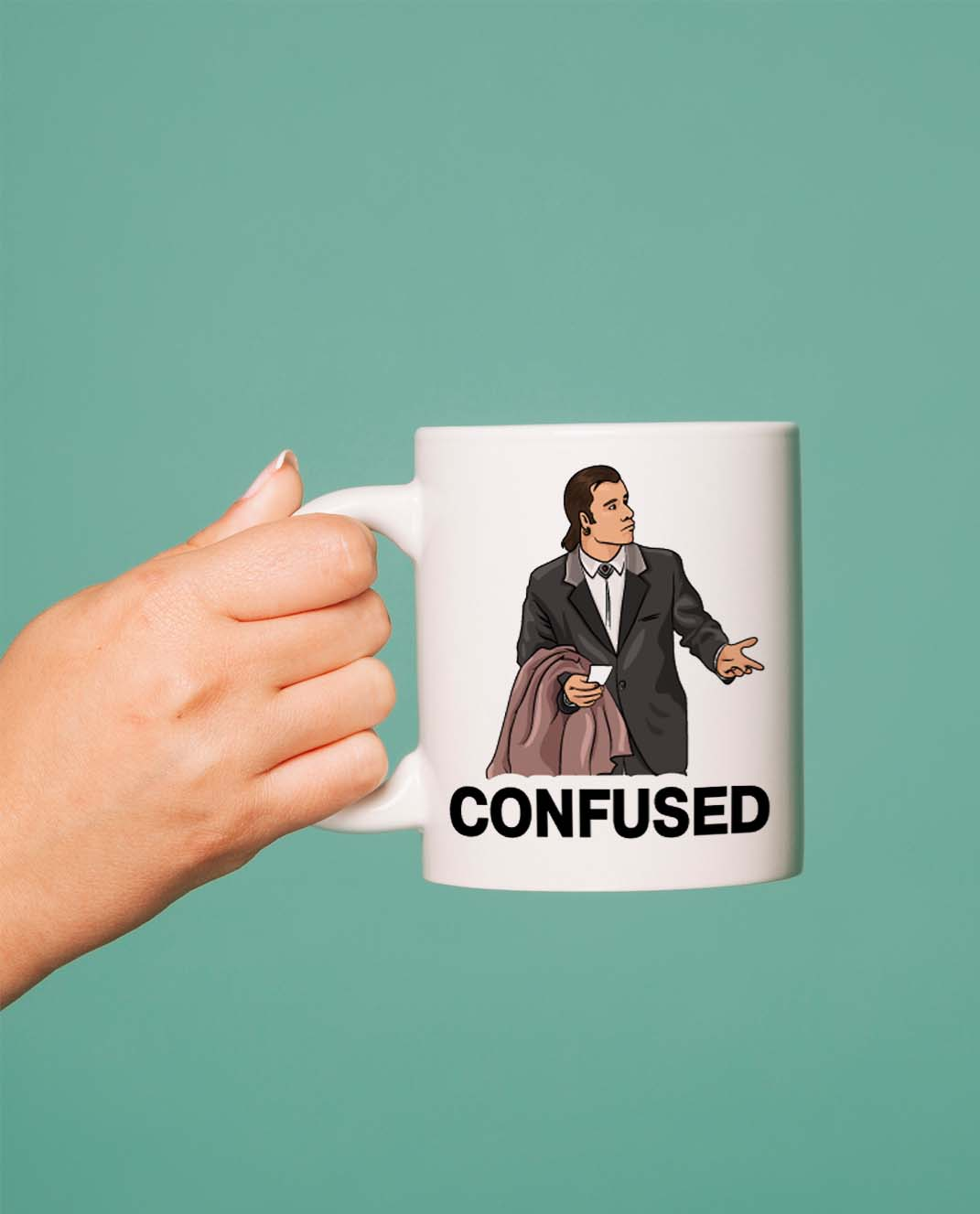 Taza Confused Travolta