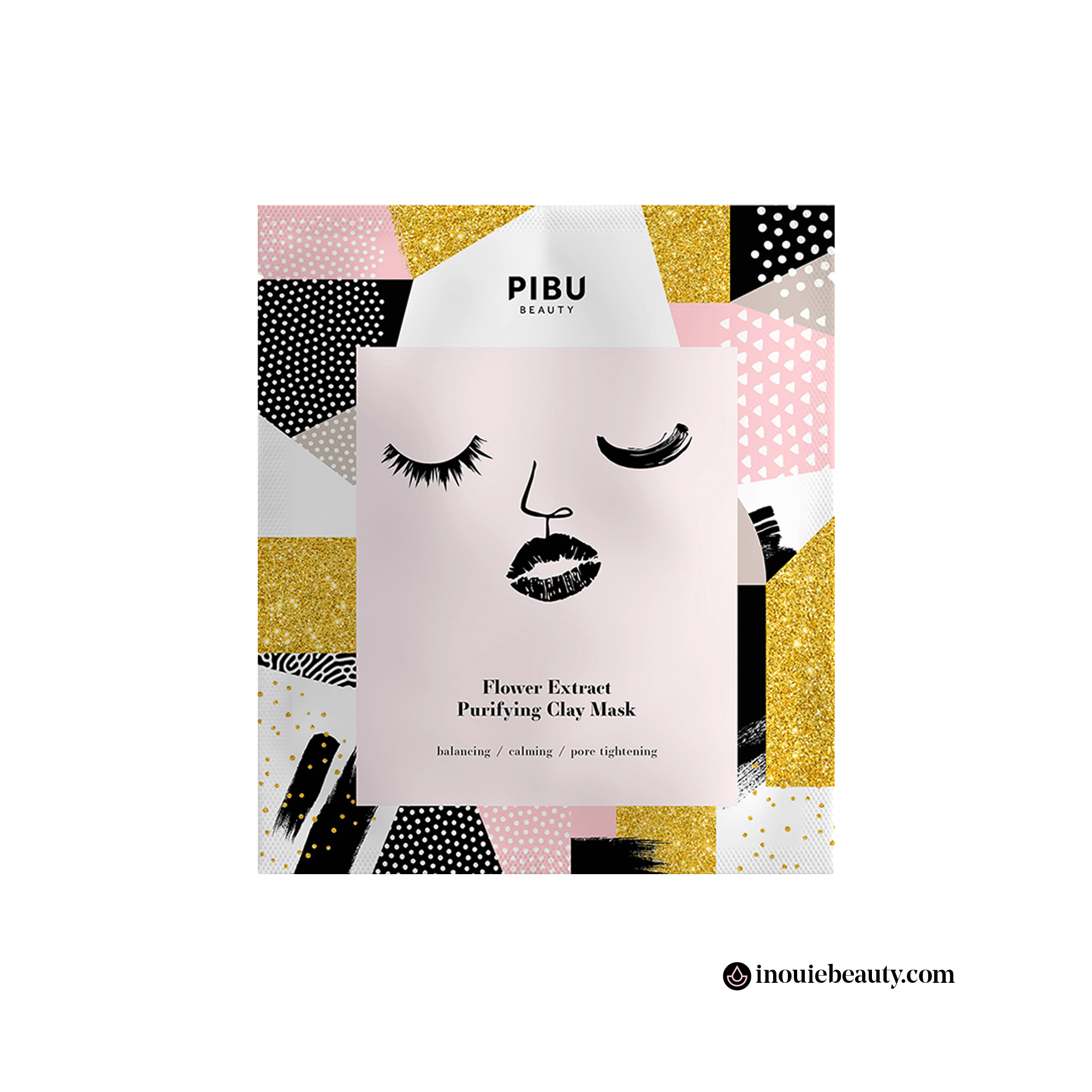 Pibu Beauty Flower Extract Purifying Clay Mask