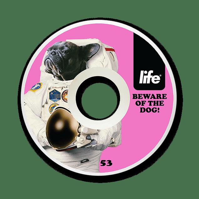 Ruedas Life - Dog Pink Cónicas - 53mm