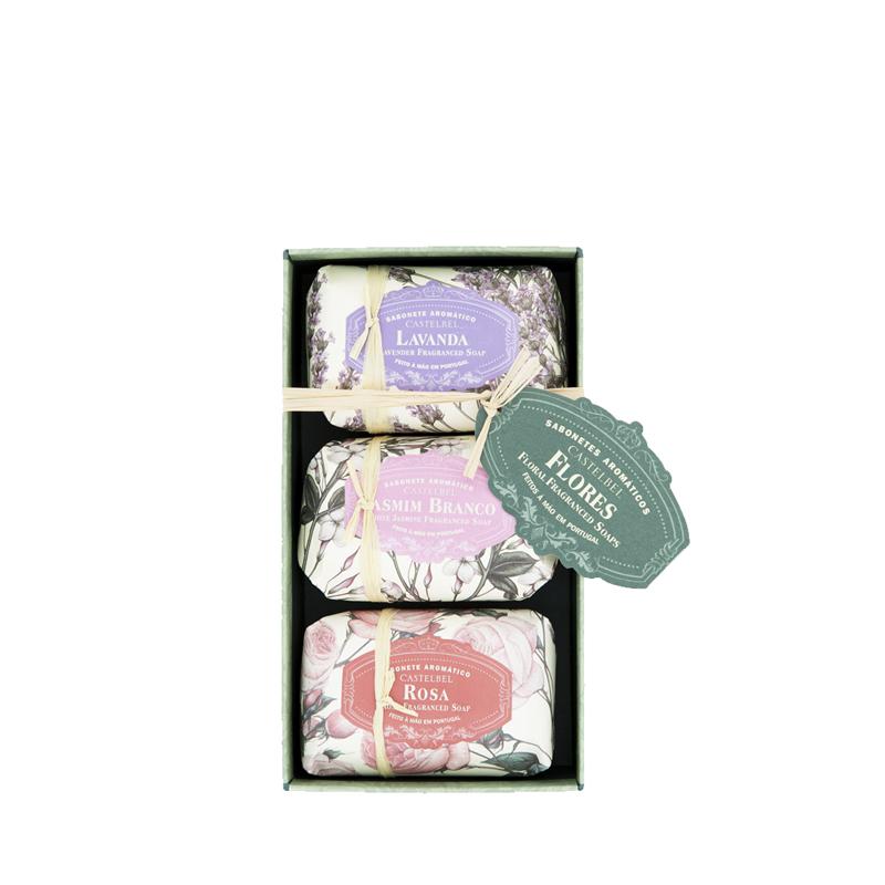 Caja 3 Jabones 150 g Floral Fraganced