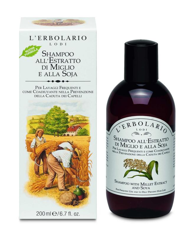 Shampoo Extracto de Mijo y Soya 200 ml