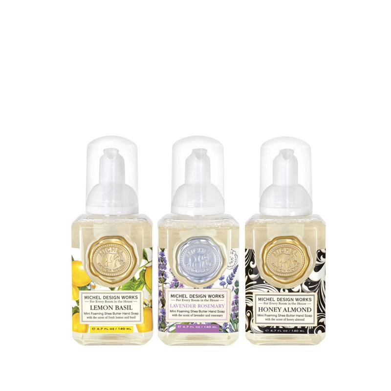 Set 3 Jabón Espuma 140 ml Lemon Basil, Lavender Rosemary y Honey Almond