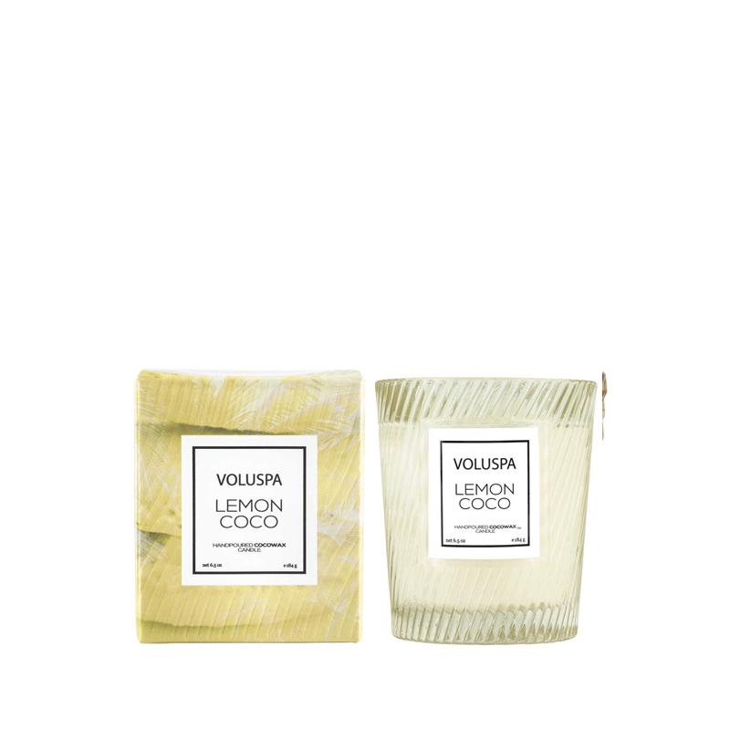 Vela Vaso Vidrio Text Lemon Coco 184 g