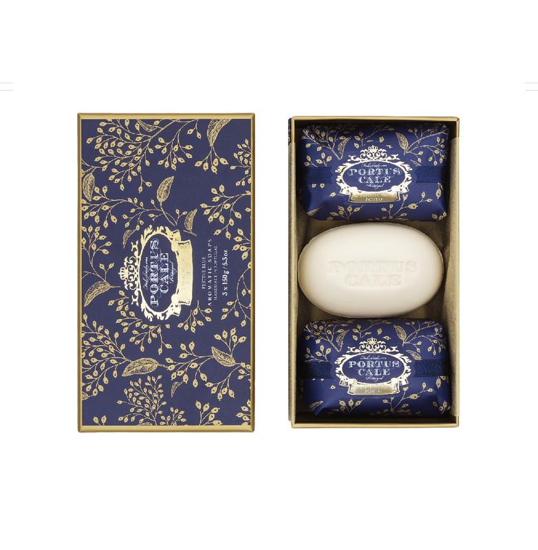 Caja 3 Jabones 150 g Festive Blue