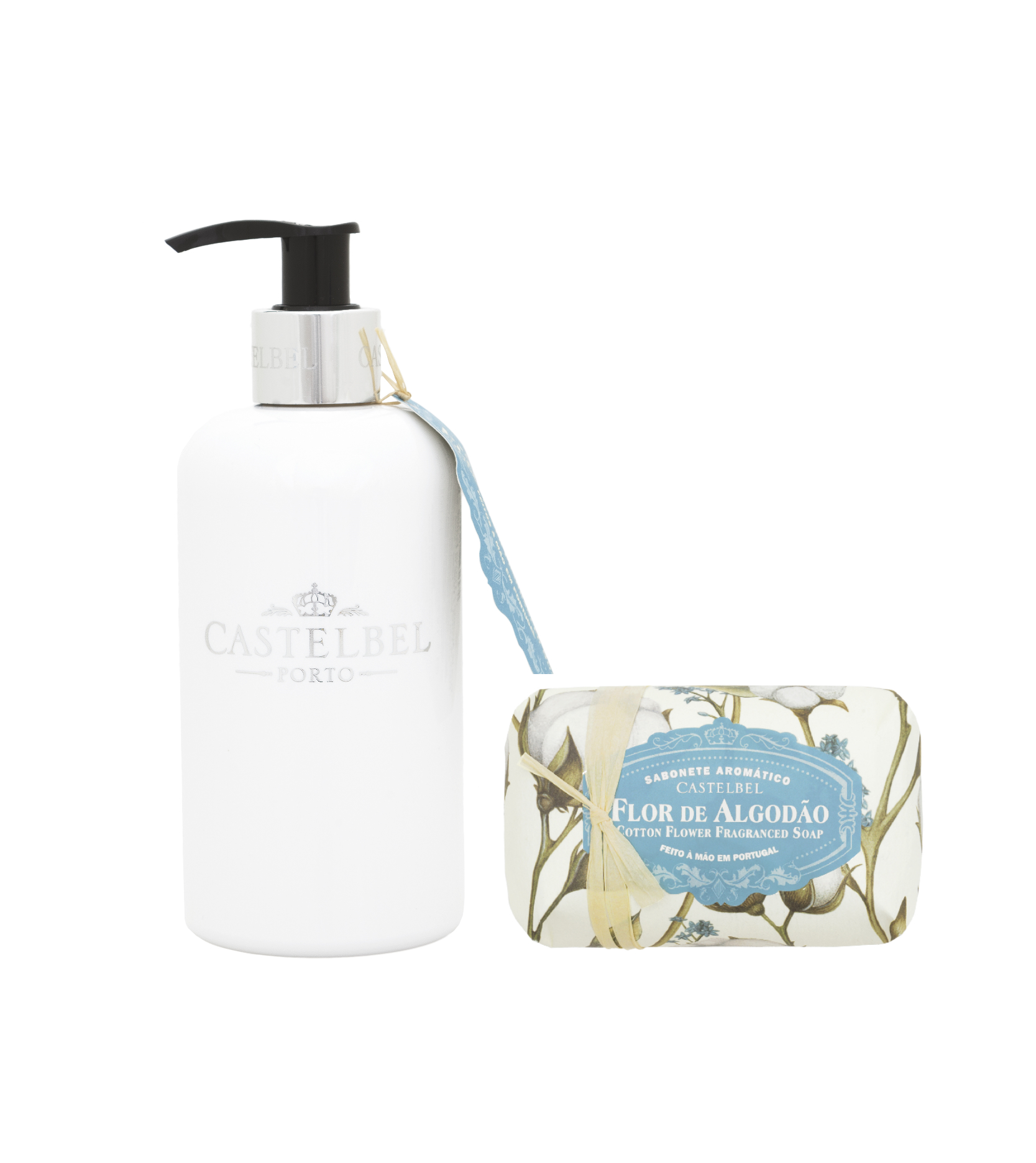 Loción Corporal 300 ml + Jabón Barra 150 g Cotton Flower