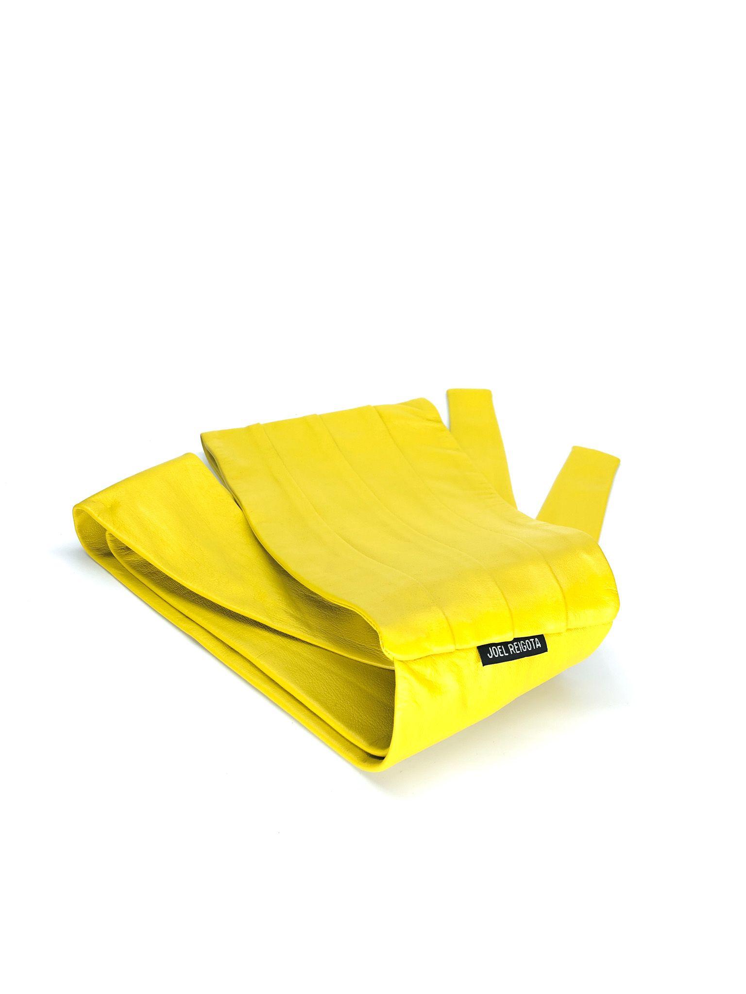 Yellow Wide Waist Belt