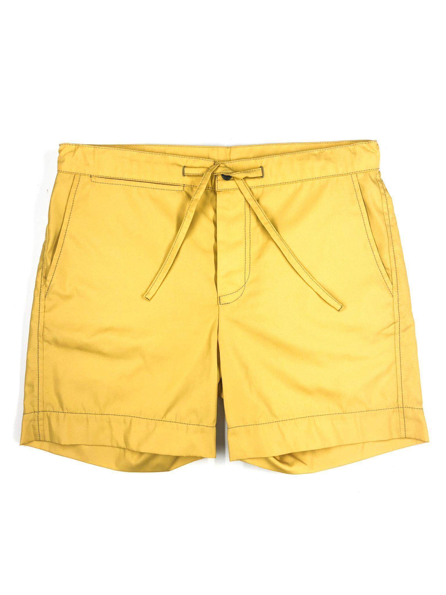 Yellow Drawstring Shorts