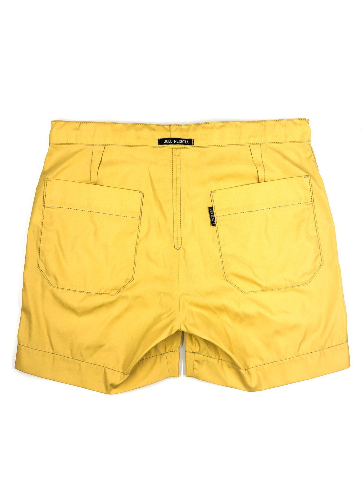 Yellow Drawstring Shorts