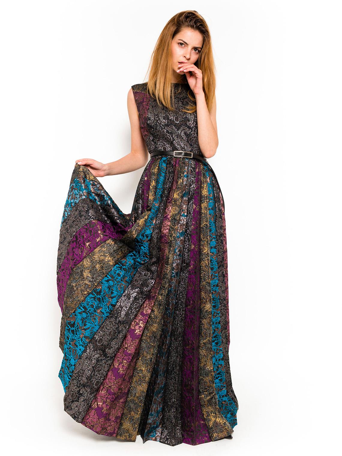 Silk Brocade Dress