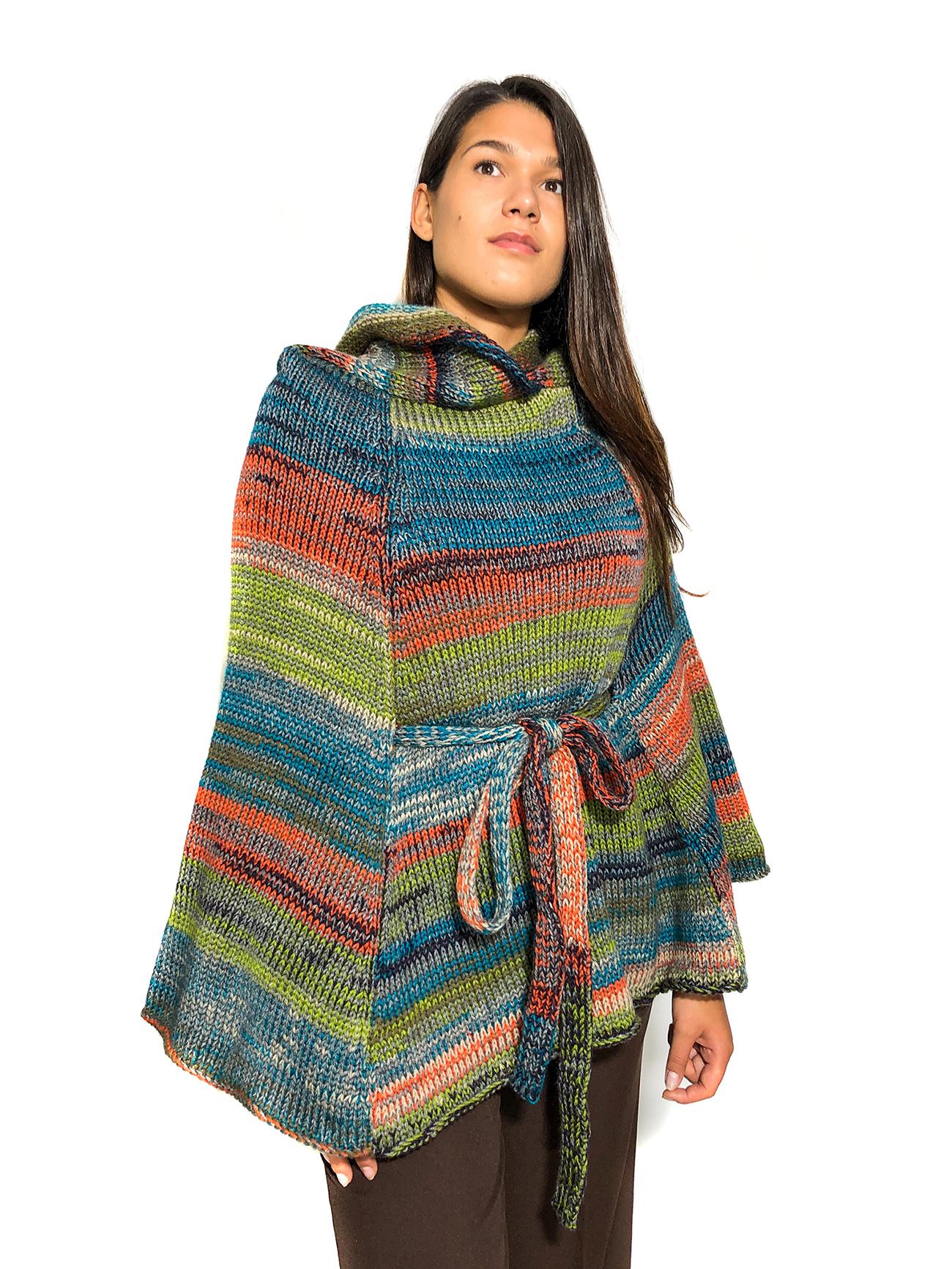 Multicolored Wool Cape