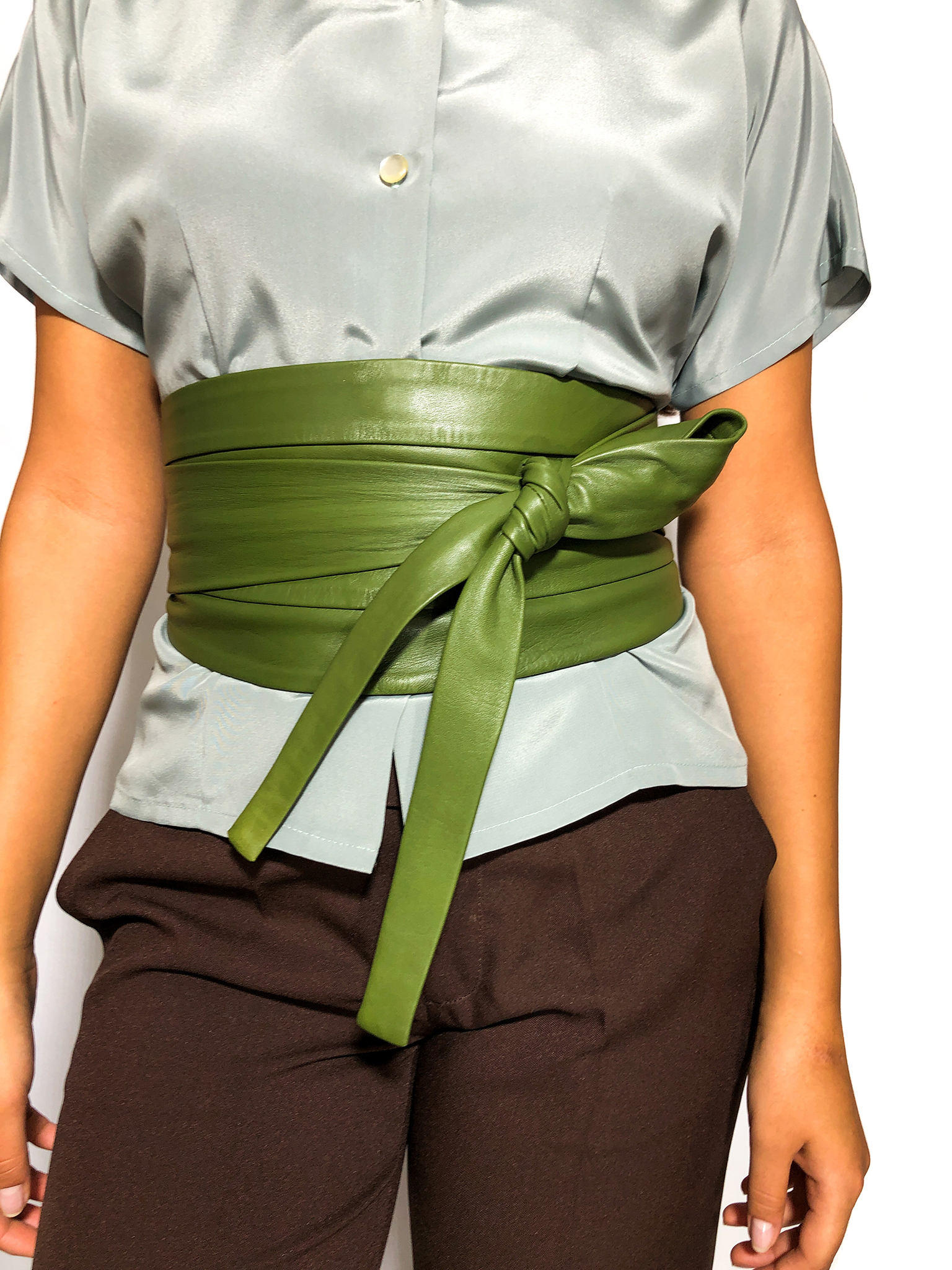 Green Wide Waist Belt