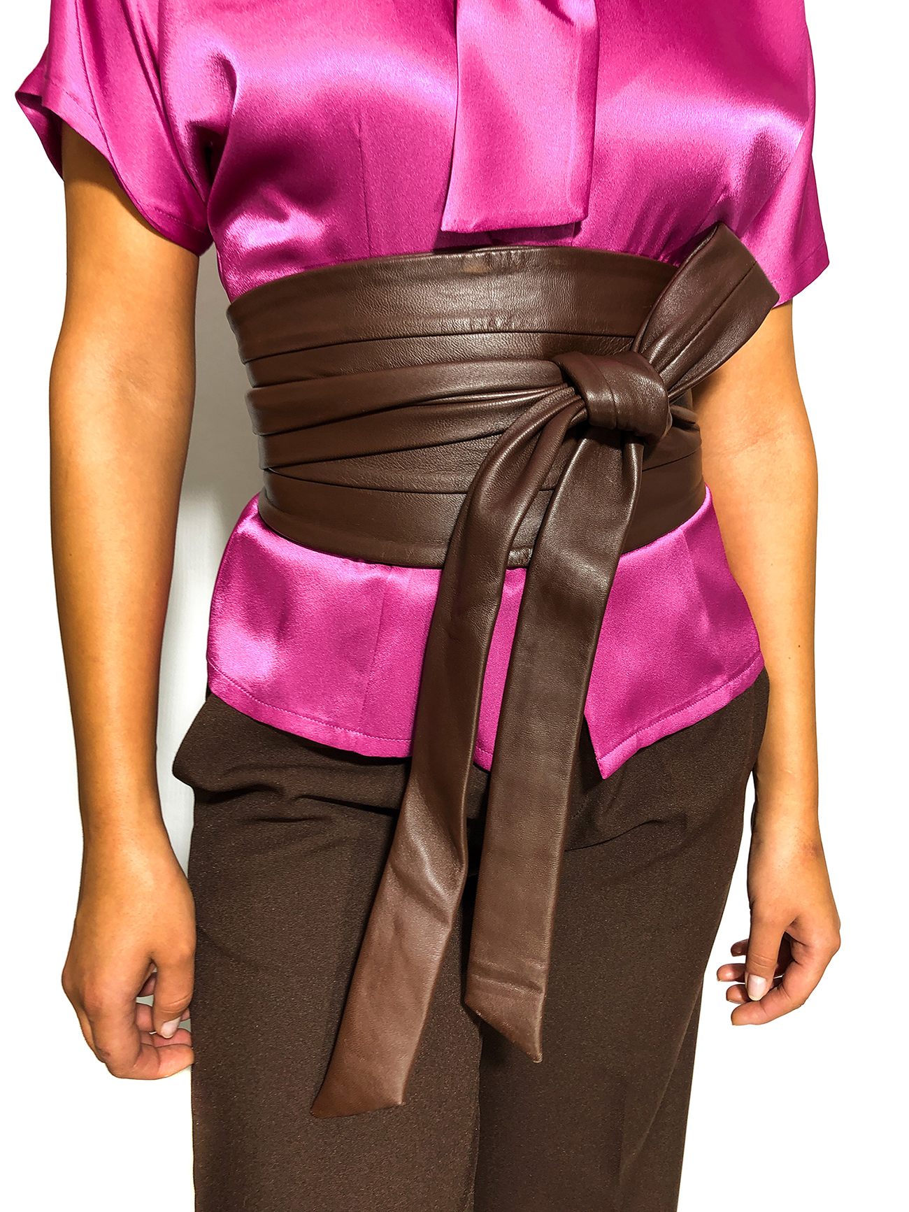 Brown Wide Waist Belt