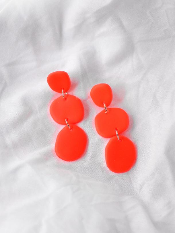 Aros Trio Naranja Fluor 1