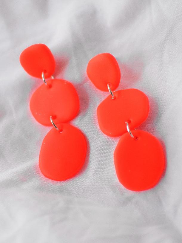 Aros Trio Naranja Fluor 2