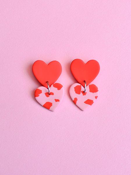 Corazones dobles rojo y rosa 1