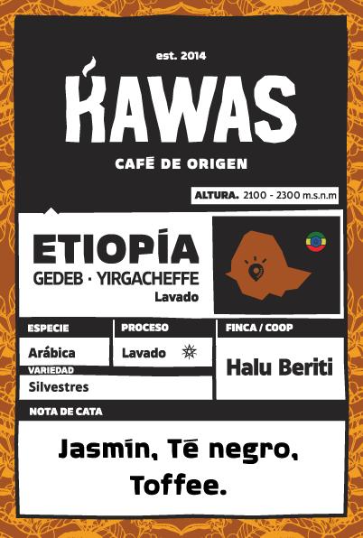 Café Etiopía Halu Beriti Lavado