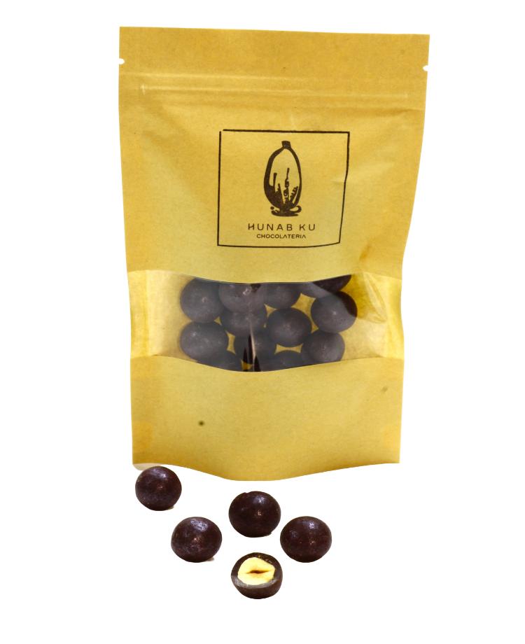 Grageado Avellana bañado en Chocolate 55% 85gr (Vegano)
