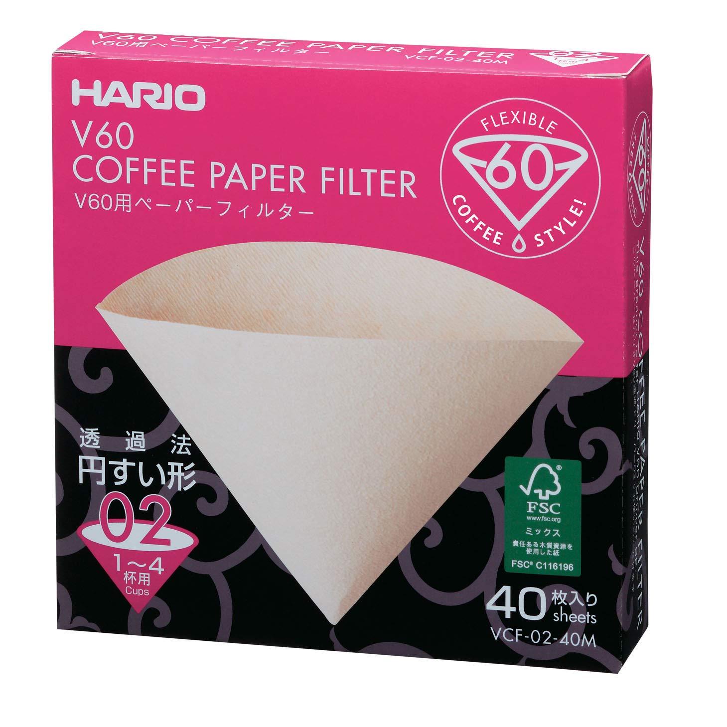 V60 Filtro de papel natural 02 - 40 Und