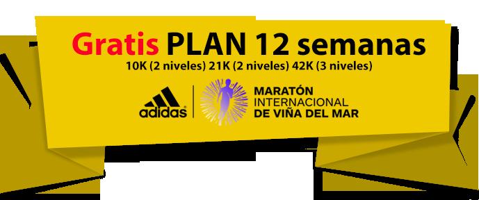 Inscríbete ahora Plan Gratuito Online 12 semanas Maratón de Viña (10K, 21K y 42K)