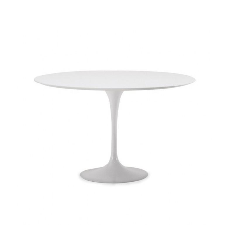 Mesa Tulip Eero Saarinen en color Blanco* 100cm Lacada y borde Bicelado