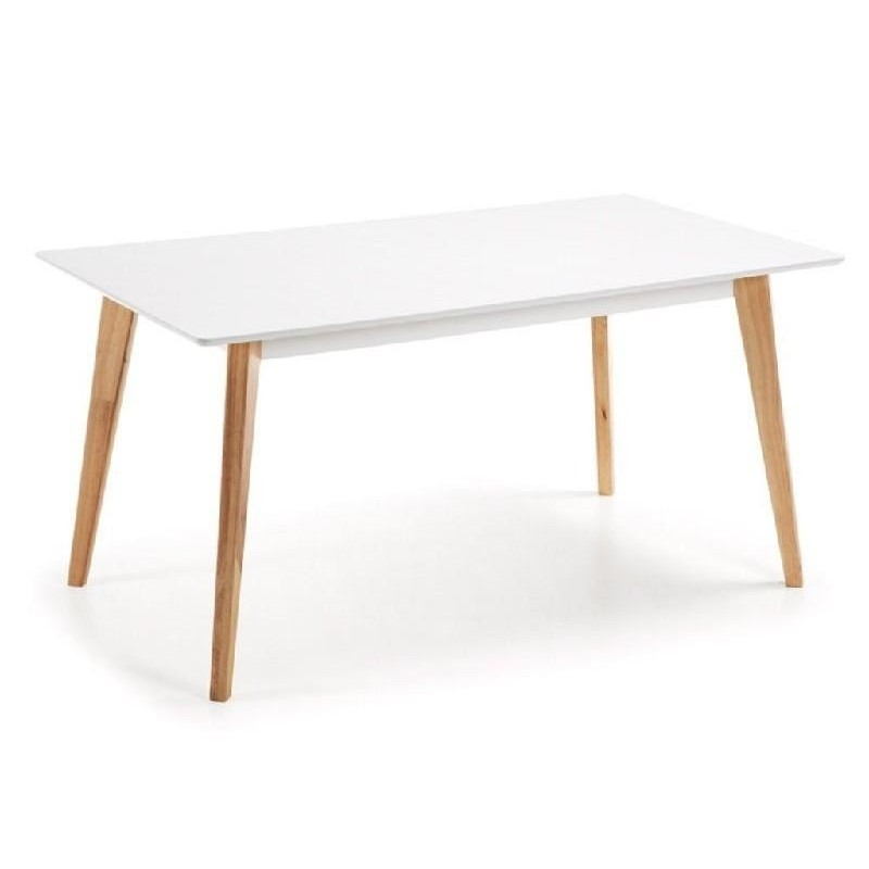 Mesa tipo Eames DSW rectangular en color blanco 160x90 cms
