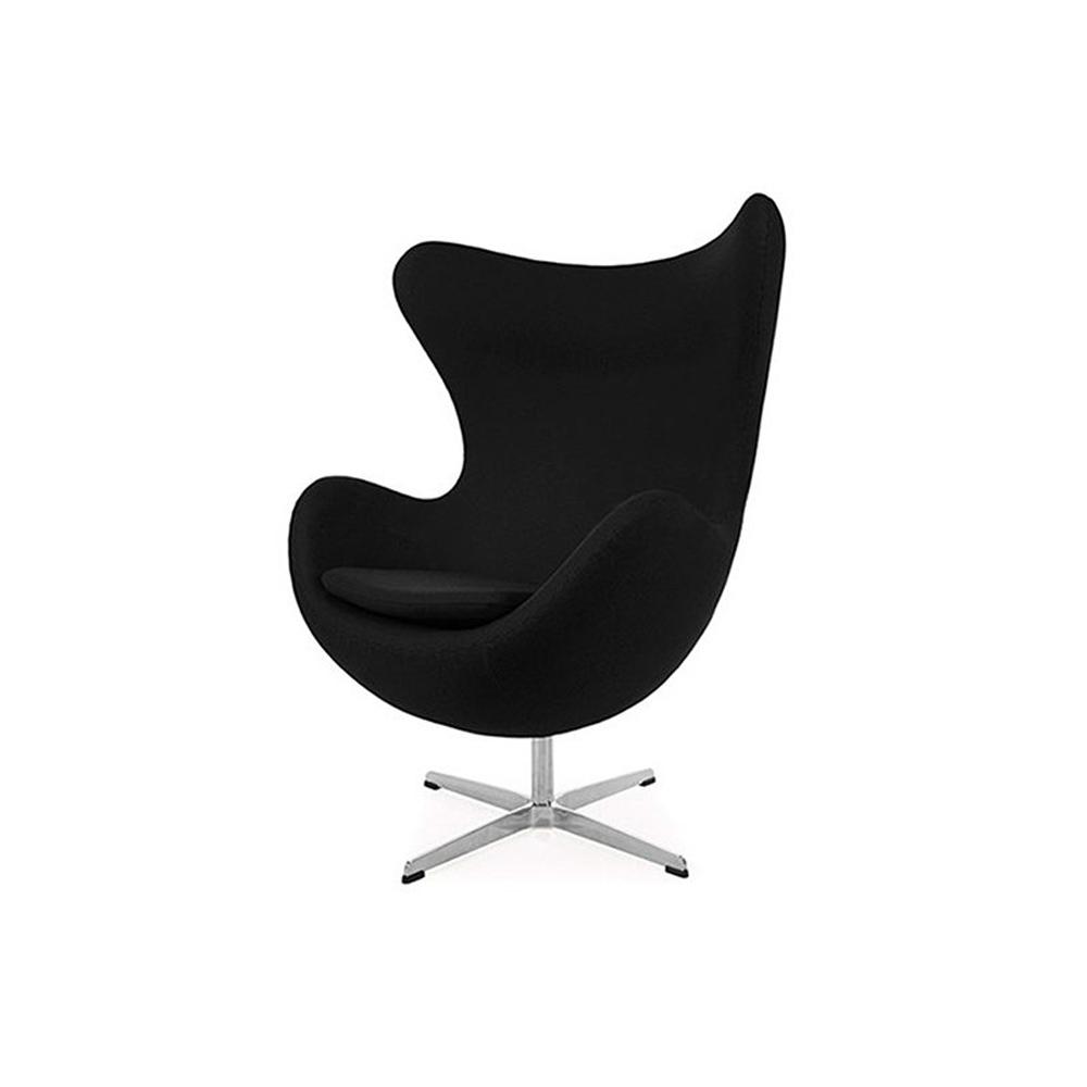 Silla sillon Huevo (Egg chair) Arne Jacobsen Negro